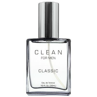 NEW CLEAN Clean for Men Classic Eau de Toilette Spray 30ml Fragrance FREE P&P