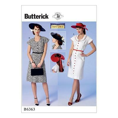 BUTTERICK SEWING PATTERN MISSES HISTORY VINTAGE COSTUME DRESS 40s ...