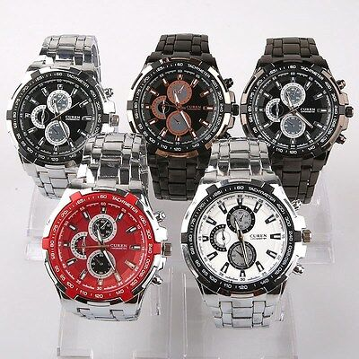 5pcs Bulk Mixed Lot Luxury Gents Men's Watch Sport Dress Wristwatch SN73M5