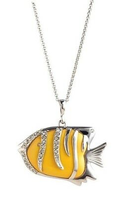 Franz Porcelain - Rhodium Necklace - Blissful Tropical Fish