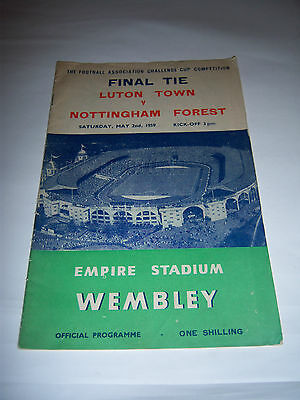 1959 FA CUP FINAL - LUTON TOWN v NOTTINGHAM FOREST - FOOTBALL PROGRAMME