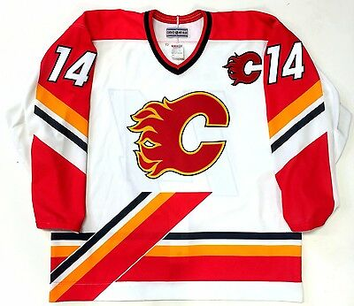 Theo Fleury Calgary Flames Ccm Authentic White Nhl Game Jersey 52 New