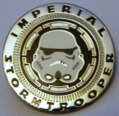 Star Wars Imperial Stormtrooper Helmet Cloisonne Metal Pin, NEW UNUSED