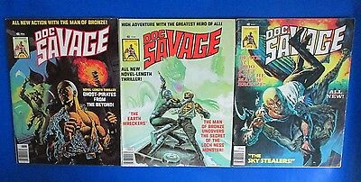 1976 DOC SAVAGE #4 FN- #5 VGN #6 VG+ LOT of 3 Curtis Magazine Ken Barr