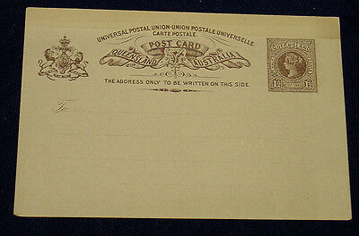 Queensland Mint 1.5d Postcard of Queen Victoria period.