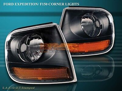 1997-2003 Ford F150/expedition Signal Black Corner Lights