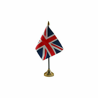 Union Jack British Table Desk Flag - 10 x 15 cm National Country Hand Europe