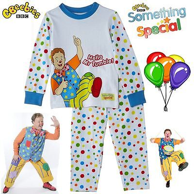 BBC Something Special® Hello Mr Tumble Children Baby Spotty Pyjamas Suit New