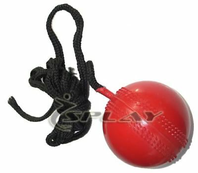 Cricket Hanging Ball Red cricket training string practise bowling coaching rope
