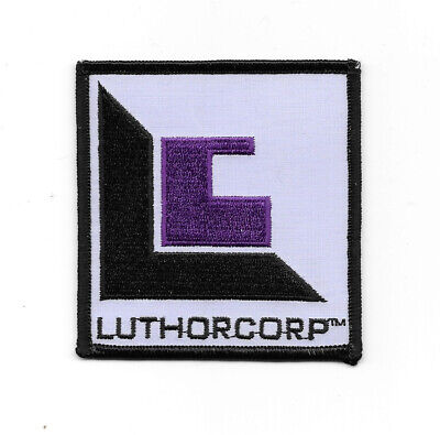 Smallville TV Series LuthorCorp Logo Embroidered Patch Superman, NEW UNUSED