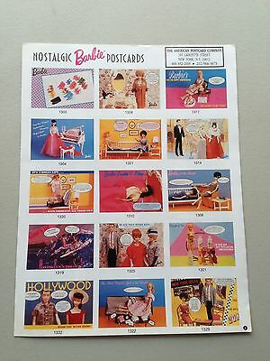 1989 Barbie Doll Nostalgic Postcards Order Form