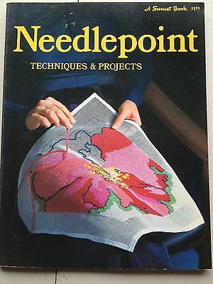 Needlepoint Techniques & Projects Sewing Book Magazine 1973 Susan Lampton