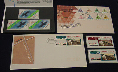 1990s Box Link and Across Town mint postage labels + more.