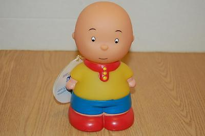 Caillou Soft Rubber Toy That Squeaks / Tags  - 6 Inches - Euc !!!