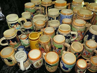 COLLECTABLE German Stein Traditional Bavarian Scene or Souvenir LARGE SELECTION