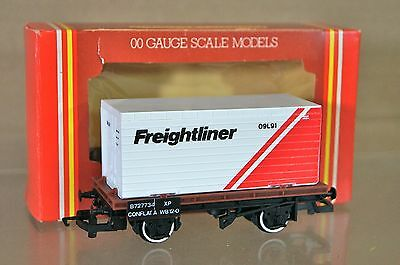 HORNBY R017 BR CONFLAT WAGON with FREIGHTLINER CONTAINER LOAD B727734 MIB nh