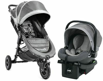 Baby Jogger City Mini GT Travel System Stroller w City Go Infant Car Seat Steel