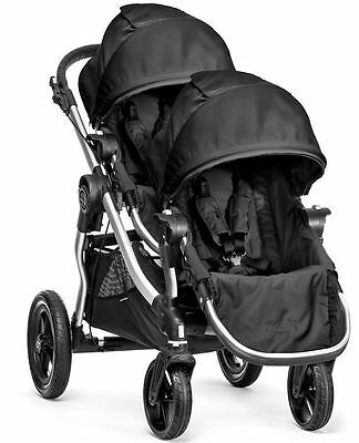 2016 Baby Jogger City Select Twin Tandem Double Stroller Onyx with Second Seat
