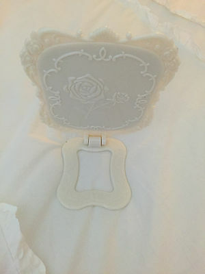 Shabby Chic Anna Sui Like White Foldable Standing Large Mirror