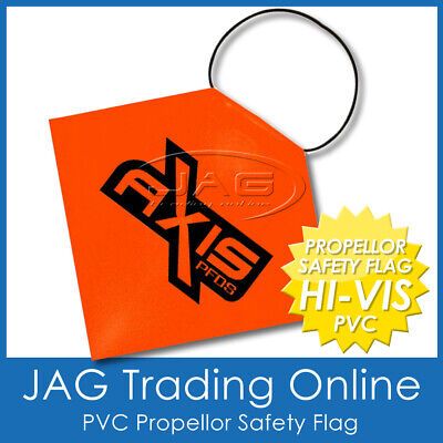PROPELLOR SAFETY SIGNAL FLAG - HI-VIS ORANGE PVC - Boat/Trailer/Marine/Long Load