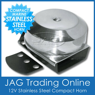 12V Compact Electric Stainless Steel Marine Boat/caravan/car/truck Horn