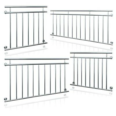 JULIET FRENCH BALCONY 90 x 100/128/156/184/225cm SECURITY GRID STEEL BALUSTRADES