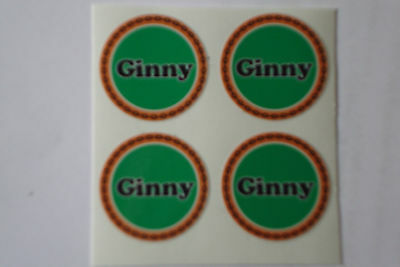 """12  Jen  CROWN GREEN STICKERS  1/""""   LAWN BOWLS FLATGREEN  AND INDOOR BOWLS"""