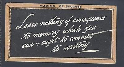 Singleton & Cole - Maxims Of Success (Orange Border) - Leave Nothing Of Conseque