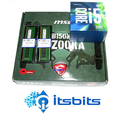 MSI B250M BAZOOKA + INTEL I5-7400 + 16GB DDR4 RAM QUAD CORE 2.7Ghz 1151 UPGRADE