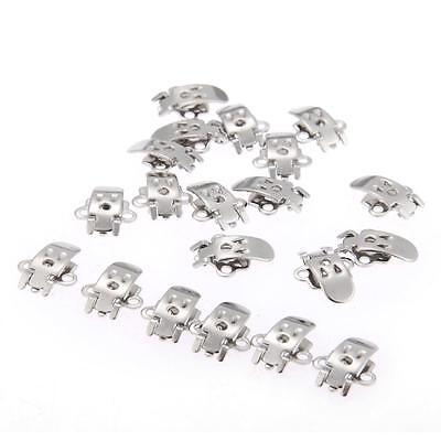 20 Silver Blank Stainless Steel Shoe Clips on Findings