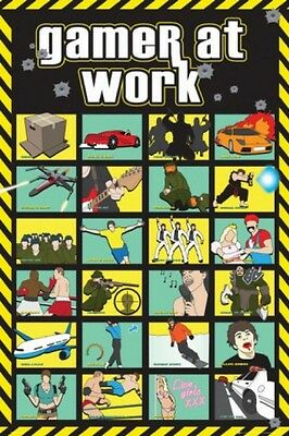 Gaming - Gamer At Work Poster Bild Plakat (91x61cm) #44083