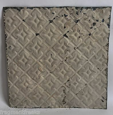 "1890's Reclaimed 12"" x 12"" Antique Tin Ceiling Tile A10a Taupe Anniversary Chic"