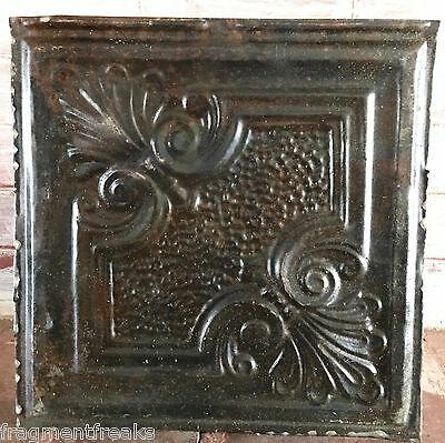"12"" x 12"" Antique Tin Ceiling Tile A2A Metal Rust *SEE OUR SALVAGE VIDEOS*"