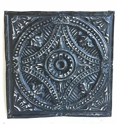 "12"" x 12"" Antique Tin Ceiling Tile Metal 96A  Black *SEE OUR SALVAGE VIDEOS*"