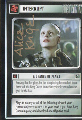 STAR TREK - First Contact card - BORG QUEEN signed ALICE KRIGE