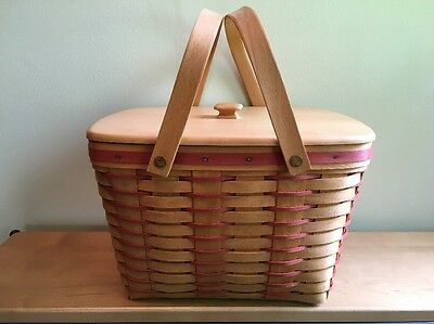 Longaberger 1995 Sweetheart Hostess Precious Treasures Basket w/ Protector & Lid