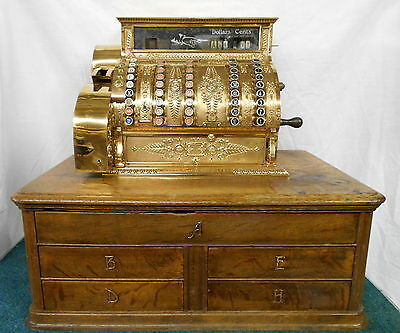 Vintage National Cash Register Built For John Rich Woolrich Woolens Dated 1903