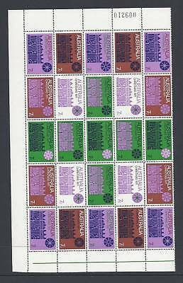 AUSTRALIA 1971 XMAS GREEN CROSS sheet of 25 VF MNH