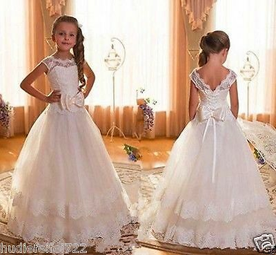 NEW Communion Party Prom Princess Pageant Bridesmaid Wedding Flower Girl Dress++