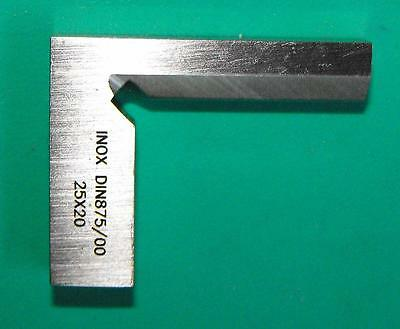 25mm Precision Bevel Edge Square Grade 00 Stainless