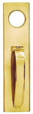 Polish Brass Art Deco Door Knocker with Cylinder Hole