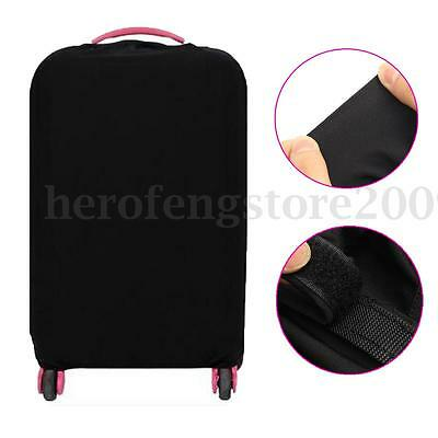 "28"" Travel Trolley Luggage Protector Elastic Suitcase Cover Bag Dust-Proof Black"