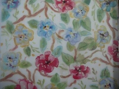 """12X12"""" Vellum Red & Blue Blossom Flowers from It Takes Two new"""
