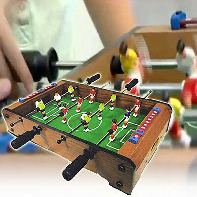 Small Compact Desktop Soccer Game Office School Football Wooden Shoot Out Play