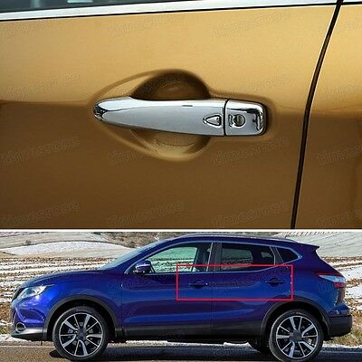 New Chrome Outer Side Car Door Handle Cover Smart for Nissan Qashqai 2014-2016