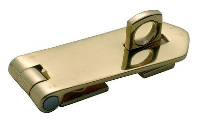 Polished Brass Hasp & Staple 60mm x 22mm