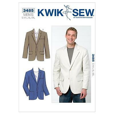 Kwik Sew Sewing Pattern Men's Blazer Size S - Xxl K3485