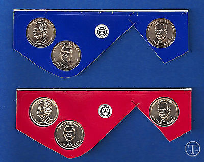 2016 P AND D BU Uncirculated Presidential Dollar Set-PD From Mint Sets-6 Dollars