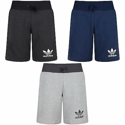 Adidas Originals Mens 3 Stripes Essential Shorts Casual Mens Fleece Shorts S-Xl