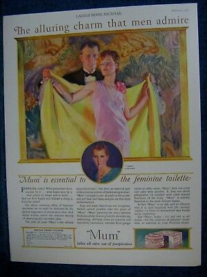 1928 McClelland Barclay ~ Lady's Beauty Product  Color Print Ad